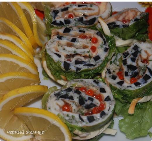 """Кулинария Рецепт кулинарный: закуска """"Ролл Дракона"""" Овощи, фрукты, ягоды, Продукты пищевые. Фото 1"""