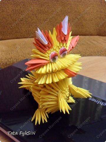 Мастер-класс Оригами модульное: Мой Дракон   (МК Дракончика) Бумага Новый год. Фото 1