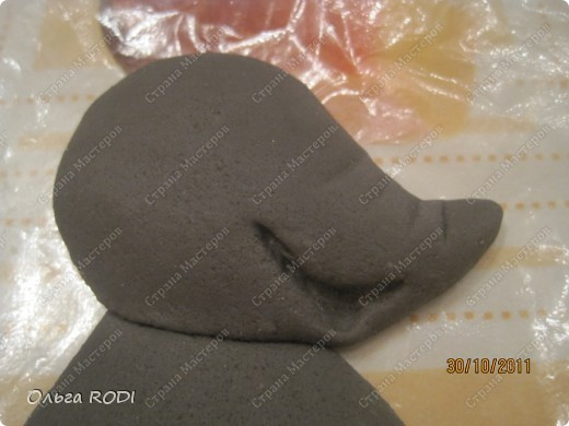 Мастер-класс, Поделка, изделие Лепка: Счастливая мыша Тесто соленое. Фото 5
