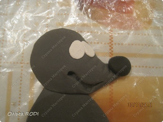 Мастер-класс, Поделка, изделие Лепка: Счастливая мыша Тесто соленое. Фото 8