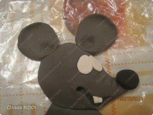 Мастер-класс, Поделка, изделие Лепка: Счастливая мыша Тесто соленое. Фото 13