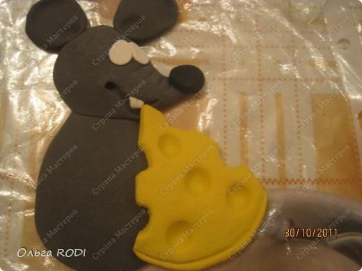 Мастер-класс, Поделка, изделие Лепка: Счастливая мыша Тесто соленое. Фото 20