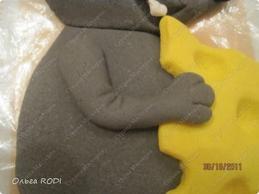 Мастер-класс, Поделка, изделие Лепка: Счастливая мыша Тесто соленое. Фото 21