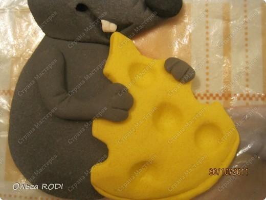Мастер-класс, Поделка, изделие Лепка: Счастливая мыша Тесто соленое. Фото 23
