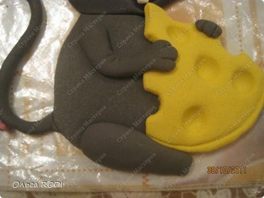 Мастер-класс, Поделка, изделие Лепка: Счастливая мыша Тесто соленое. Фото 27
