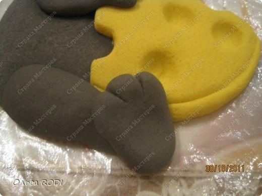 Мастер-класс, Поделка, изделие Лепка: Счастливая мыша Тесто соленое. Фото 28