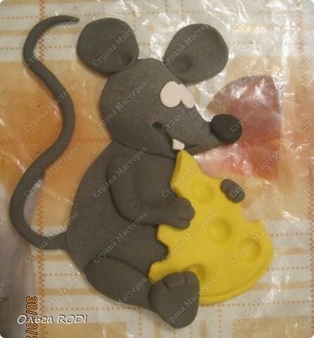Мастер-класс, Поделка, изделие Лепка: Счастливая мыша Тесто соленое. Фото 29