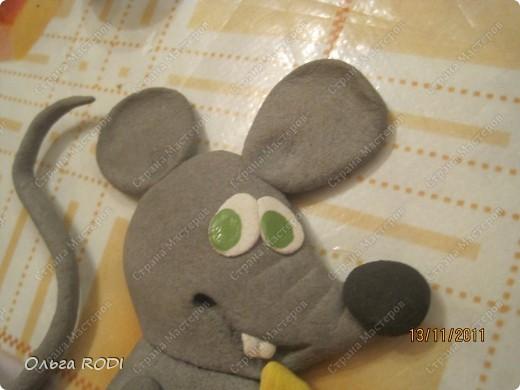 Мастер-класс, Поделка, изделие Лепка: Счастливая мыша Тесто соленое. Фото 30
