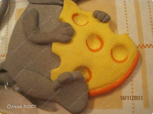 Мастер-класс, Поделка, изделие Лепка: Счастливая мыша Тесто соленое. Фото 31