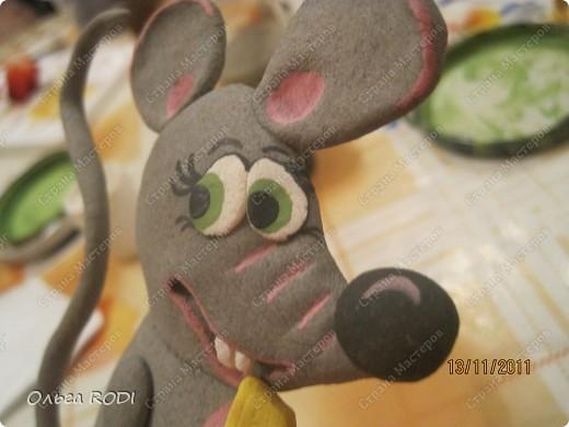 Мастер-класс, Поделка, изделие Лепка: Счастливая мыша Тесто соленое. Фото 32