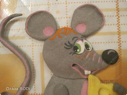Мастер-класс, Поделка, изделие Лепка: Счастливая мыша Тесто соленое. Фото 33