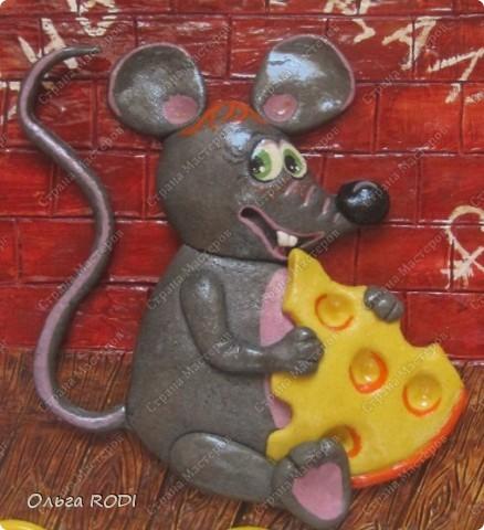Мастер-класс, Поделка, изделие Лепка: Счастливая мыша Тесто соленое. Фото 1