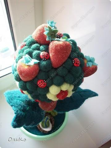 """Интерьер Валяние (фильцевание): Декоративное дерево """"Счастье быть семьей"""" Шерсть День семьи. Фото 3"""