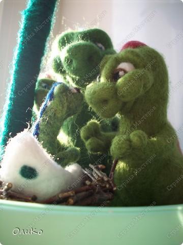 """Интерьер Валяние (фильцевание): Декоративное дерево """"Счастье быть семьей"""" Шерсть День семьи. Фото 8"""