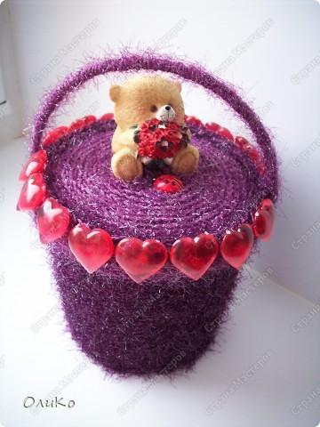 Поделка, изделие: Шкатулка для сокровищ Пряжа Валентинов день. Фото 1