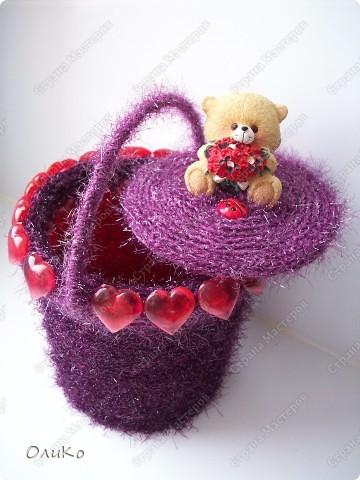 Поделка, изделие: Шкатулка для сокровищ Пряжа Валентинов день. Фото 3