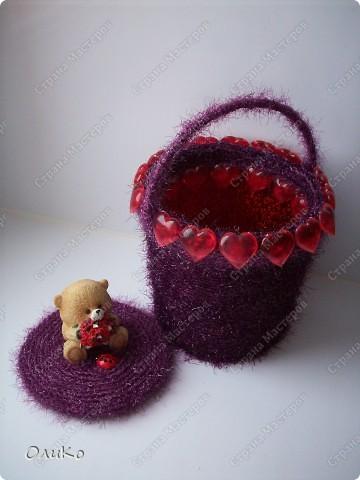 Поделка, изделие: Шкатулка для сокровищ Пряжа Валентинов день. Фото 4