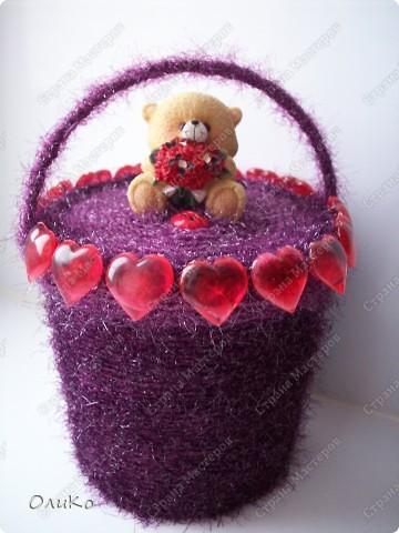 Поделка, изделие: Шкатулка для сокровищ Пряжа Валентинов день. Фото 2