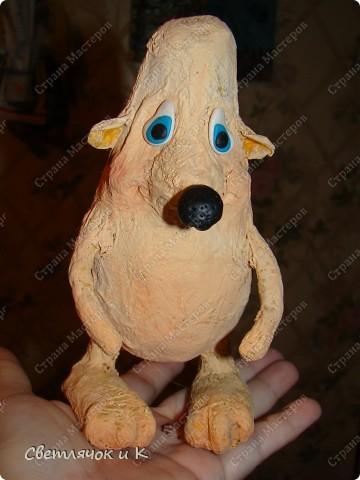 Игрушка Вязание крючком, Папье-маше: Жил-был ёжик Бумага, Клей, Краска, Пластика, Пряжа Новый год. Фото 3