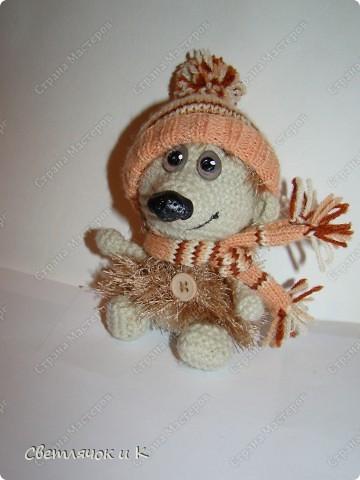 Игрушка Вязание крючком, Папье-маше: Жил-был ёжик Бумага, Клей, Краска, Пластика, Пряжа Новый год. Фото 13