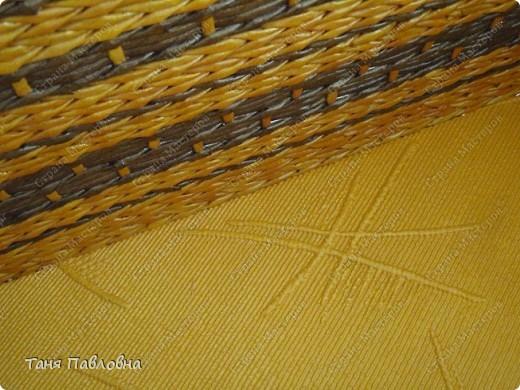 Мастер-класс, Поделка, изделие Плетение: Короб для открытых полок и мааааленький МК Бумага газетная. Фото 9