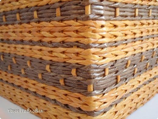 Мастер-класс, Поделка, изделие Плетение: Короб для открытых полок и мааааленький МК Бумага газетная. Фото 11