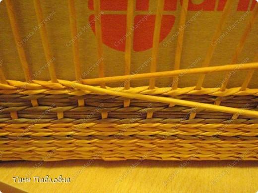 Мастер-класс, Поделка, изделие Плетение: Короб для открытых полок и мааааленький МК Бумага газетная. Фото 16