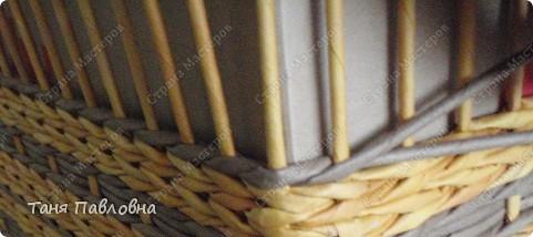 Мастер-класс, Поделка, изделие Плетение: Короб для открытых полок и мааааленький МК Бумага газетная. Фото 14