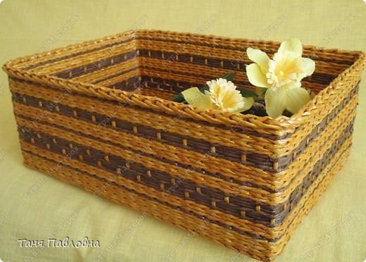 Мастер-класс, Поделка, изделие Плетение: Короб для открытых полок и мааааленький МК Бумага газетная. Фото 1