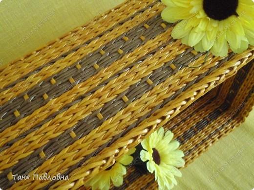 Мастер-класс, Поделка, изделие Плетение: Короб для открытых полок и мааааленький МК Бумага газетная. Фото 5