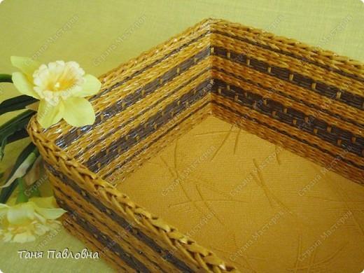 Мастер-класс, Поделка, изделие Плетение: Короб для открытых полок и мааааленький МК Бумага газетная. Фото 6