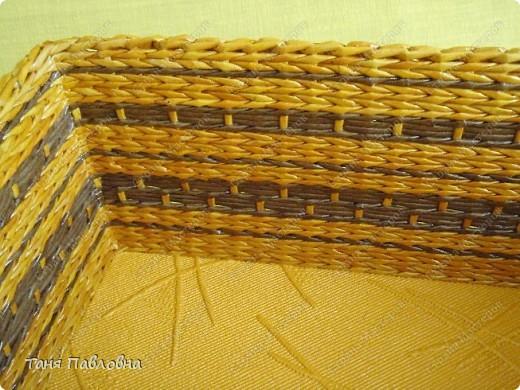 Мастер-класс, Поделка, изделие Плетение: Короб для открытых полок и мааааленький МК Бумага газетная. Фото 7