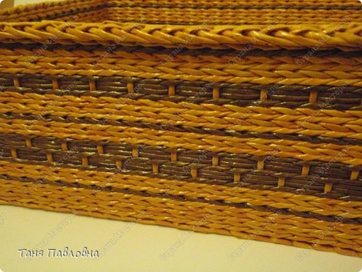Мастер-класс, Поделка, изделие Плетение: Короб для открытых полок и мааааленький МК Бумага газетная. Фото 8