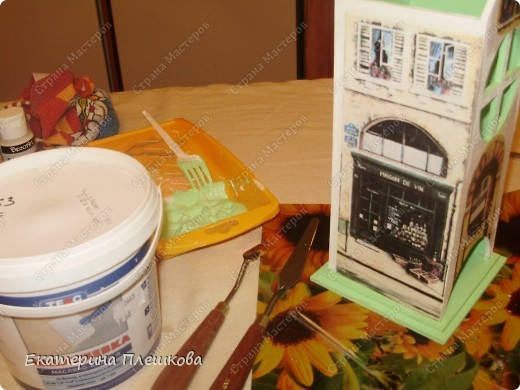 Декор предметов, Мастер-класс Декупаж: МК Чайного домика. Бумага, Дерево, Крупа 8 марта, День рождения. Фото 17