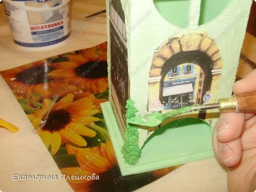 Декор предметов, Мастер-класс Декупаж: МК Чайного домика. Бумага, Дерево, Крупа 8 марта, День рождения. Фото 25