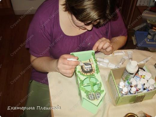 Декор предметов, Мастер-класс Декупаж: МК Чайного домика. Бумага, Дерево, Крупа 8 марта, День рождения. Фото 29
