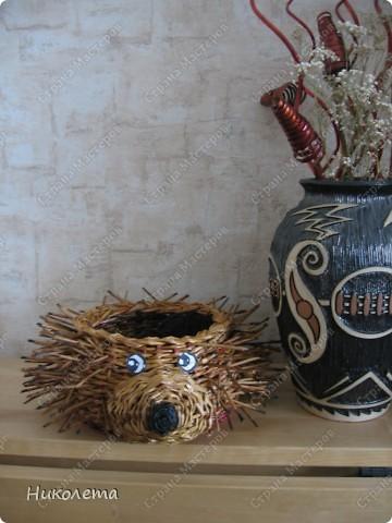 Мастер-класс, Поделка, изделие Плетение: ёжик из газет Бумага газетная Отдых. Фото 23