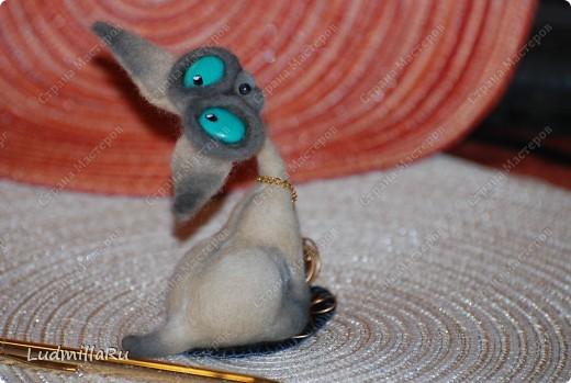 """Игрушка Валяние (фильцевание): MK """"Милые котики"""" мои Голубоглазка и Рыжик Шерсть Дебют. Фото 19"""