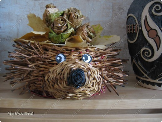 Мастер-класс, Поделка, изделие Плетение: ёжик из газет Бумага газетная Отдых. Фото 24