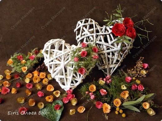 Декор предметов, Мастер-класс, Поделка, изделие Вырезание, Плетение: Сердечки, колокольчики и