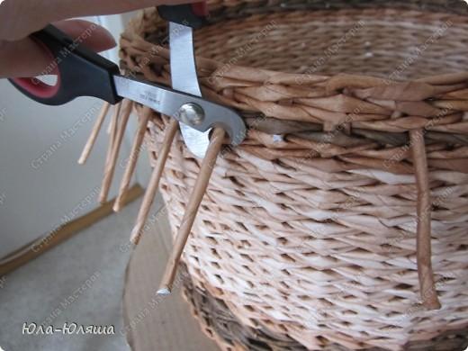 Вдохновилась работами Тани Павловны и решила повторить ее идею кашпо без дна. Накрасила трубочки из чековой ленты морилками водными цвета дуб, дуб+вода и дуб+палисандр. Фото 8