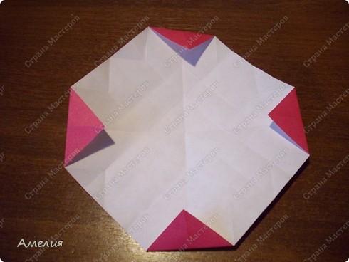 Мастер-класс Оригами, Оригами модульное: Розочки Кавасаки в вазочке+МК Бумага. Фото 22