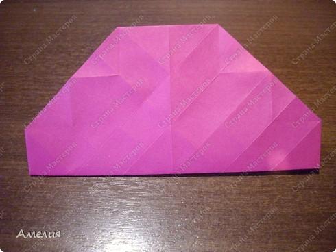Мастер-класс Оригами, Оригами модульное: Розочки Кавасаки в вазочке+МК Бумага. Фото 23