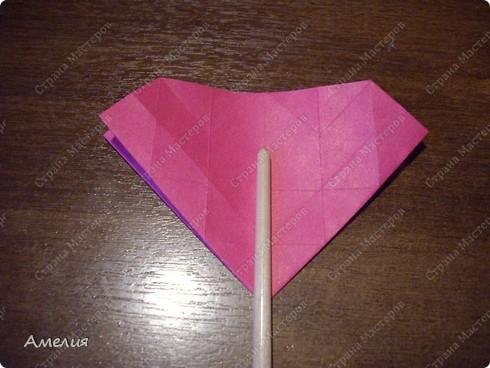 Мастер-класс Оригами, Оригами модульное: Розочки Кавасаки в вазочке+МК Бумага. Фото 25