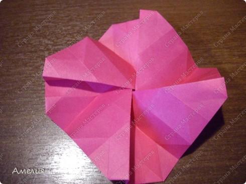 Мастер-класс Оригами, Оригами модульное: Розочки Кавасаки в вазочке+МК Бумага. Фото 37