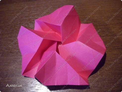 Мастер-класс Оригами, Оригами модульное: Розочки Кавасаки в вазочке+МК Бумага. Фото 39