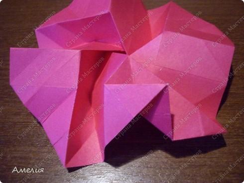 Мастер-класс Оригами, Оригами модульное: Розочки Кавасаки в вазочке+МК Бумага. Фото 41