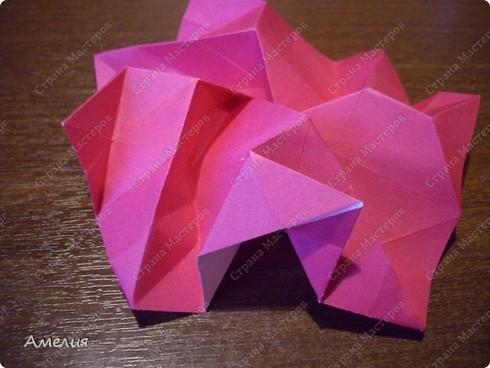Мастер-класс Оригами, Оригами модульное: Розочки Кавасаки в вазочке+МК Бумага. Фото 43