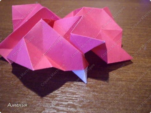 Мастер-класс Оригами, Оригами модульное: Розочки Кавасаки в вазочке+МК Бумага. Фото 46