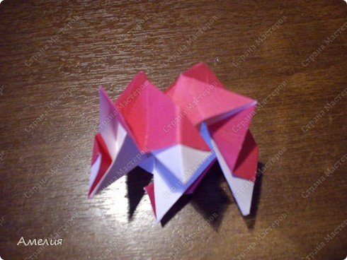 Мастер-класс Оригами, Оригами модульное: Розочки Кавасаки в вазочке+МК Бумага. Фото 47